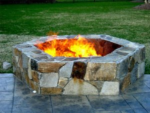 Fireplace and Firepit #001 by Sharper Image Pool