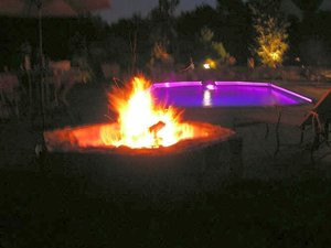 Fireplace and Firepit #002 by Sharper Image Pool