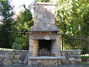 Fireplace and Firepit #003 by Sharper Image Pool