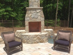 Fireplace and Firepit #004 by Sharper Image Pool