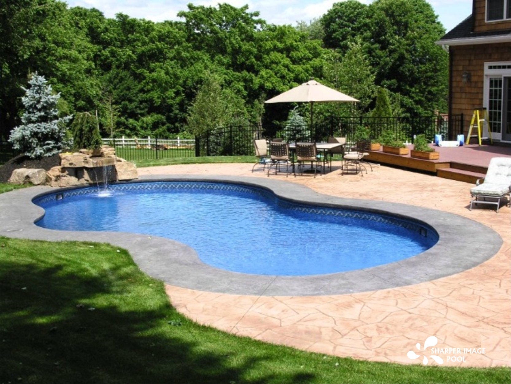 Vinyl Liner Pool Designs vinyl liner pools from kazdin pool spa are not your typical cookie cutter Vinyl Liner Pool 002 By Sharper Image Pool
